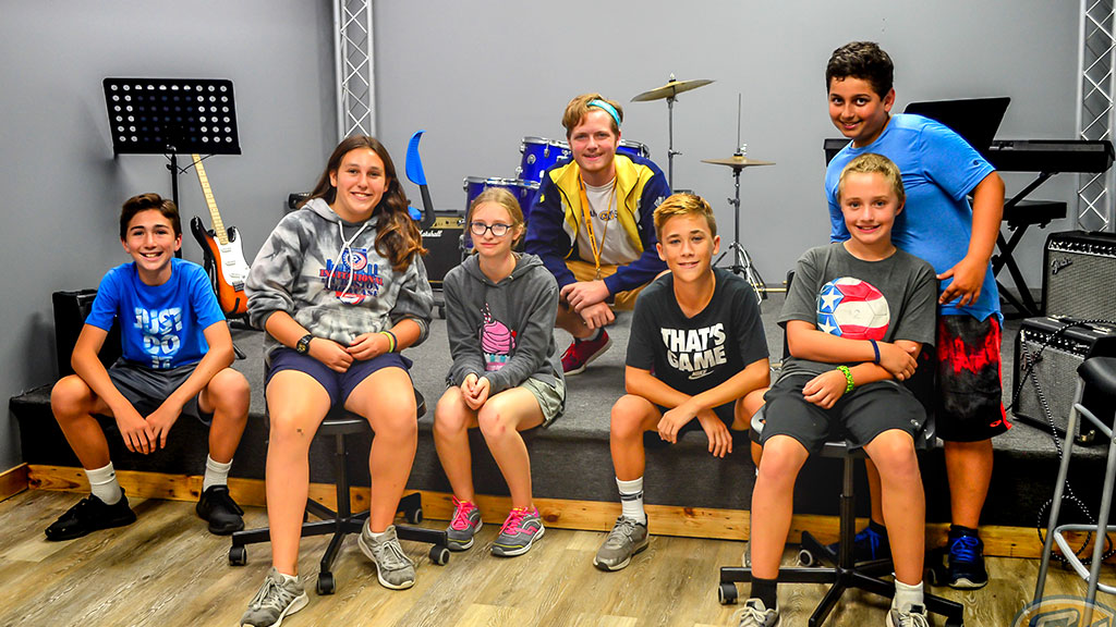 Rock band at summer Camp Weequahic