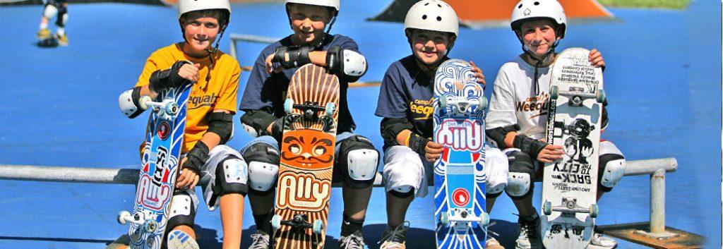 Skate park at Camp Weequahic